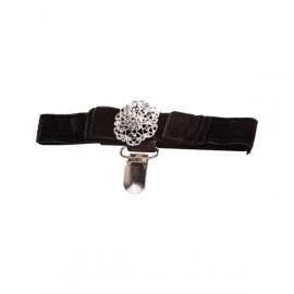 Jewelled Velvet Armband-Medium 26-37 cm