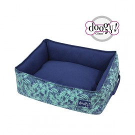 Doogy Square padded basket jungle blue