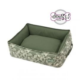 Doogy Square padded basket jungle green