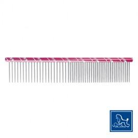 """Idealdog """"Star"""" steel comb pink"""