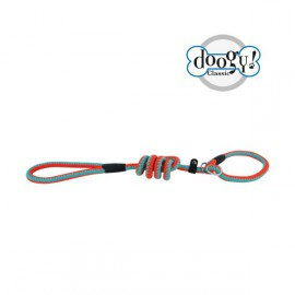 Lasso Nylon rope leash fluo orange/turquoise
