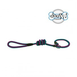 Lasso Nylon rope leash fluo blue/purple