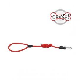 Nylon rope leash run around red