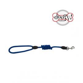 Nylon rope leash run around blue