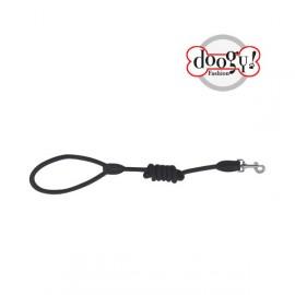 Nylon rope leash run around black
