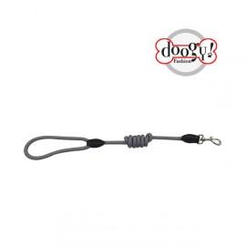 Nylon rope leash run around grey