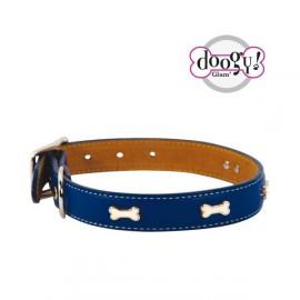 Leather collar indigo