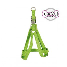 Mc leather dog harness - green