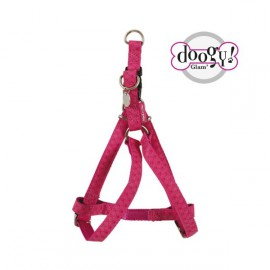 Mc leather dog harness - pink