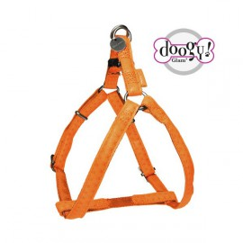 Mc leather dog harness - orange