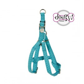 Mc leather dog harness - blue