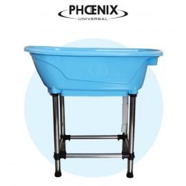 Mini blue bathtub