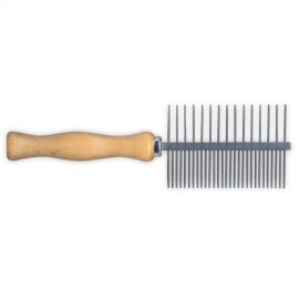 Idealdog fine wooden handle comb