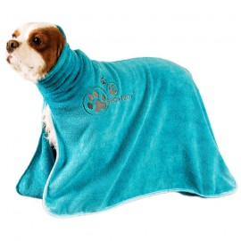 Microfiber bathrobe - Blue