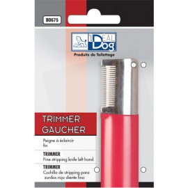 Idealdog thin red trimmer for left hand