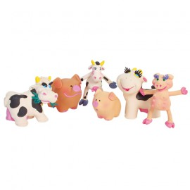 "Set of 24 latex Toys ""Farm"""