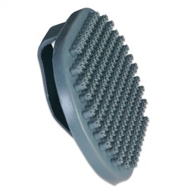 Rubber brush with large pins