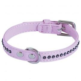 Pink Collar Glamorous 1 row rhinestones