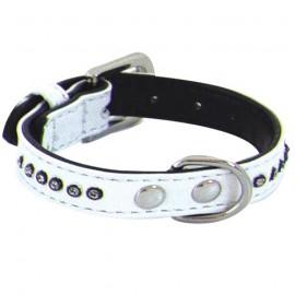 White Collar Glamorous 1 row rhinestones