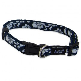 Dog collar Tahiti blue