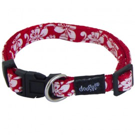 Dog collar Tahiti red