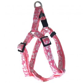 Dog adjustable harness Tahiti pink