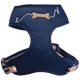 Dog t-shirt harness Kyrielle blue navy