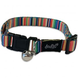 cat collar rainbow