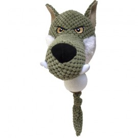 Plush wolf with ball