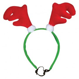 Reindeer antler headband for dogs