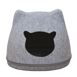 « cat head » felt basket