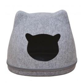 Cat head felt basket