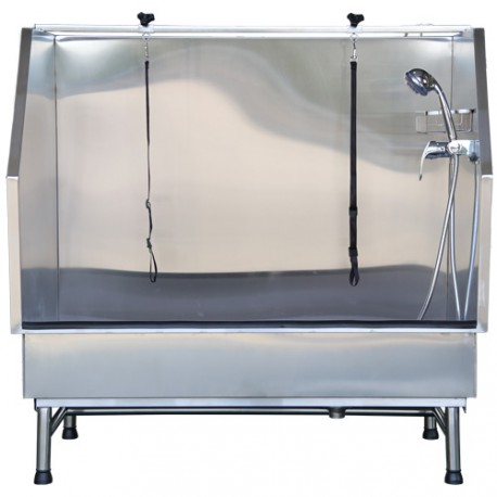 Low stainless-steel bathtub special for large dogs