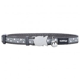 Red dingo cat collars Grey with white stars