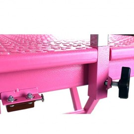 FOLDABLE GROOMING TABLE PINK PLASTIC TOP 60X45X73 (82) CM 8 KG WITH ARM