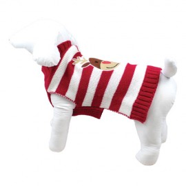 CHRISTMAS REINDEER STRIPED SWEATER