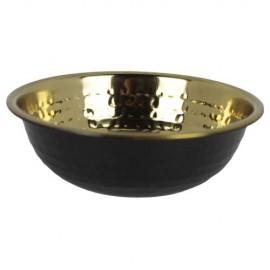 BOWL BLACK / GOLDEN HAMMERED