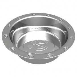Stainless steel bowl with Paws patterns