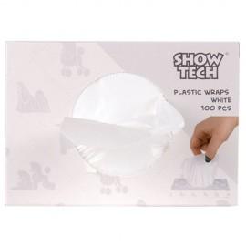 plastic wraps white - 100 pcs