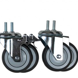 Set of 4 wheels with brake for Callisto electric table