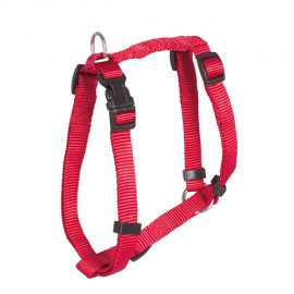 Doogy classic nylon harness - red