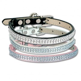 2 lines strass cat collars
