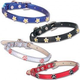 3 lines strass cat collars