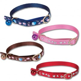 Doogy 3 lines strass cat collars