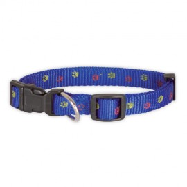 Doogy fancy nylon collar - blue