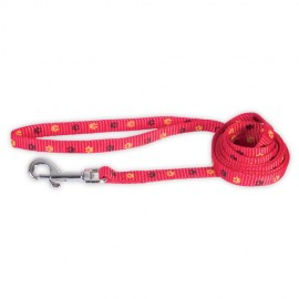 Doogy fancy simple nylon lead - red