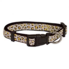 "Doogy ""Savane"" nylon collar - Beige Leopard"