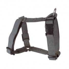 Soft leather adjustable harness - grey