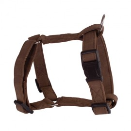 Soft leather adjustable harness - brown