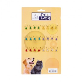 Idealdog display of 24 colored bells